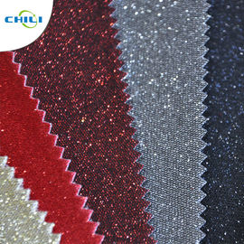 Professional Glitter Leather Fabric Eco Friendly Normal Peeling Strength