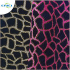 "Flocked Glitter Leather Fabric 1.0mm Thickness 54/55"" Width Abrasion Resistant"